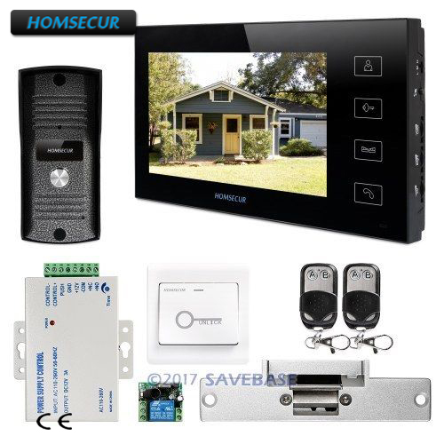цена на HOMSECUR 1C1M Kit with 7 Video&Audio Smart Doorbell+Metal Case Camera for Home Security