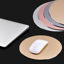 Квадратный/круглый клавиатура Коврик Алюминий Нескользящие резиновые дно игровой Мыши геймер PC ноутбук игровой Мыши геймер