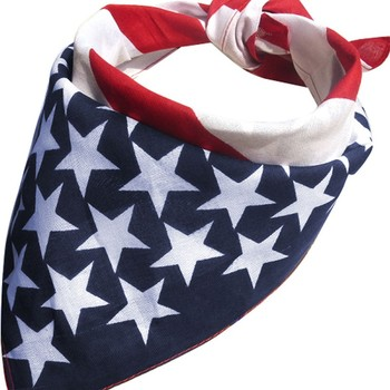 Stars and Stripes USA Flag Bandana Hair Band