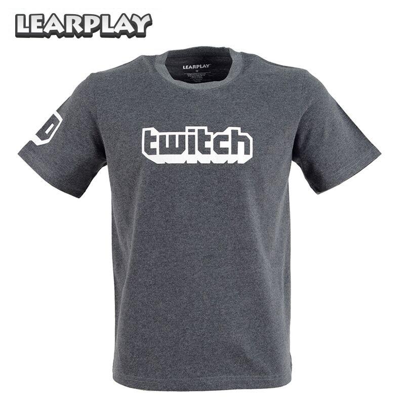 Twitch Logo Tee Parody Cool New Streamer Casual Wear T-Shirt Summer Short Sleeve Grey Tops Shirt Unisex Adults Basic Tops