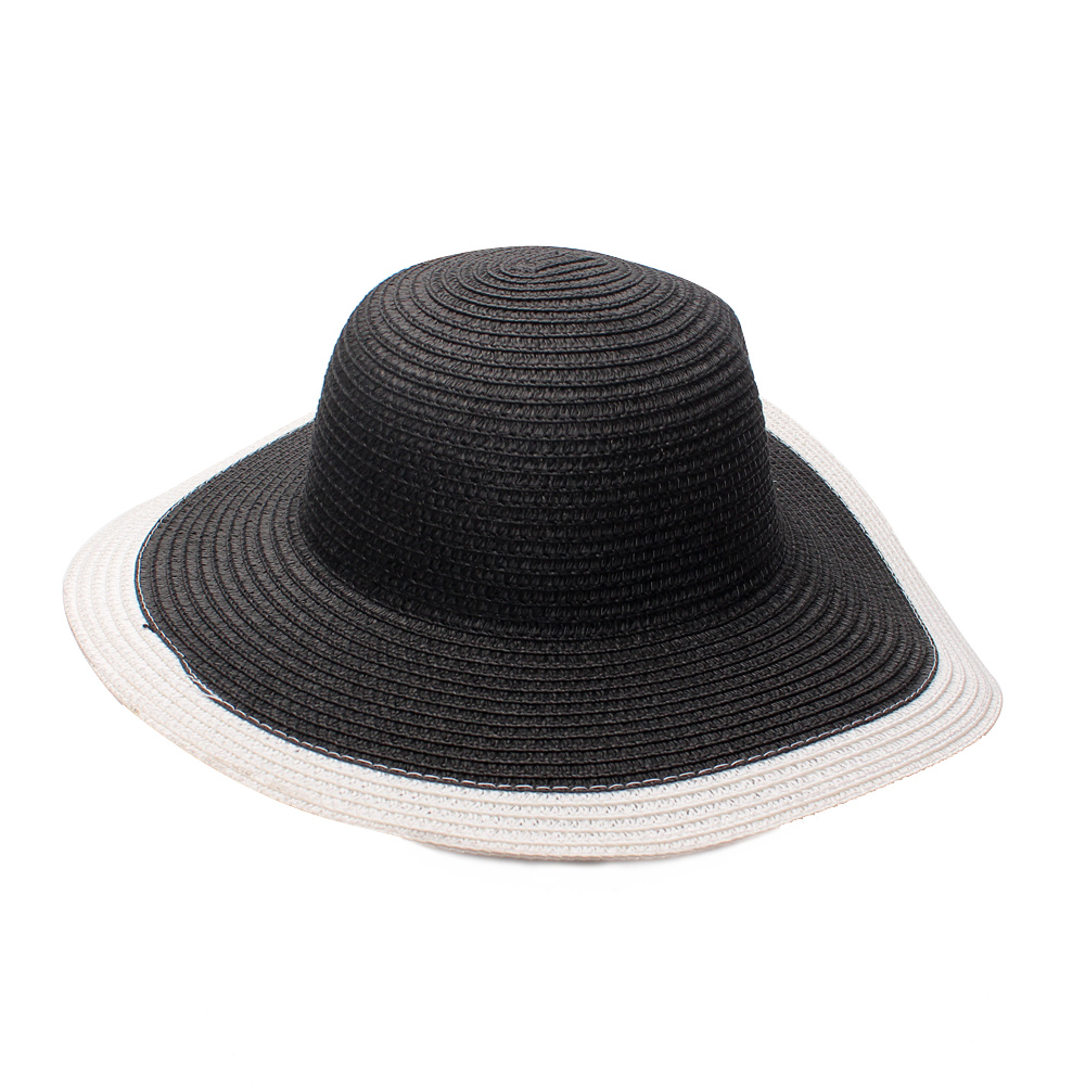 Solid Beach Hats Panama Girls Summer Hats Hollow Gils Sun Caps Panama Children Straw Cpas Kids Straw Hats Baby Accessories 10Y