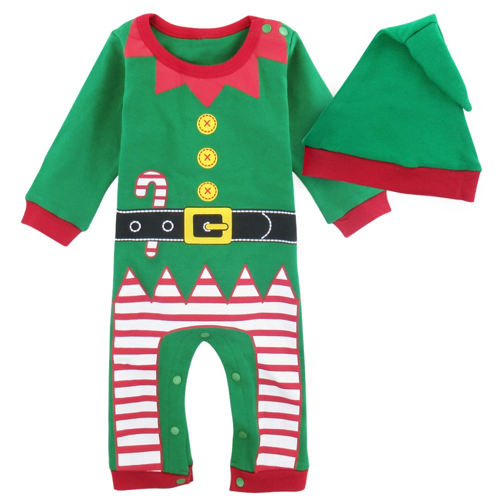 baby boys christmas costume romper for newborn santa claus jumpsuit outfit infant winter christmas elf ropa bebe long sleeve