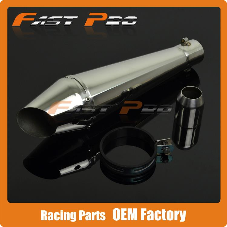 38-51MM Motorcycle GP Stainelss steel Exhaust Muffler Slip on With Moveable DB Killer Dirt Bike Street Bike Scooter ATV Racing