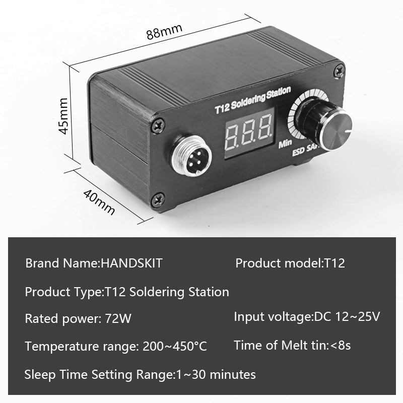 Image 5 - MINI T12 LED Portable soldering station DIY Temperature Controller Digital electronic welding iron DC 19v 24v 72w VersionSoldering Stations   - AliExpress