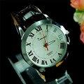 Luxury Brand Кварцевые Часы Мужчины Повседневная Наручные Часы Дизайн Моды Римские цифры Простой Ручной Часы PU Кожаный Ремешок Часы Человек 2016