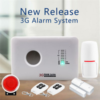Wireless 3G APP Remote Control Home Security Arm Disarm Alarm 850/900/1800/1900MHz Alarm System Smart Home Security Alarm Kit