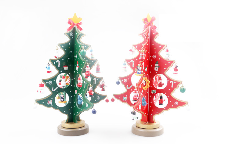 wooden xmas tree ornaments for home table decor exquisite artifical diy christmas tree decorations navidad wood craft supplies in pendant drop ornaments - Wooden Christmas Tree Decorations