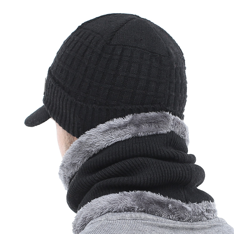 AETRUE Winter Hat Skullies Beanies Hats Winter Beanies For Men Women Wool Scarf Caps Balaclava Mask Gorras Bonnet Knitted Hat 3
