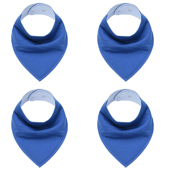 Hot Sale Solid color Baby Bandana Drool Bibs for Drooling and Teething 4 Pack Gift Set For Boys and Girls Unisex Saliva towel 1