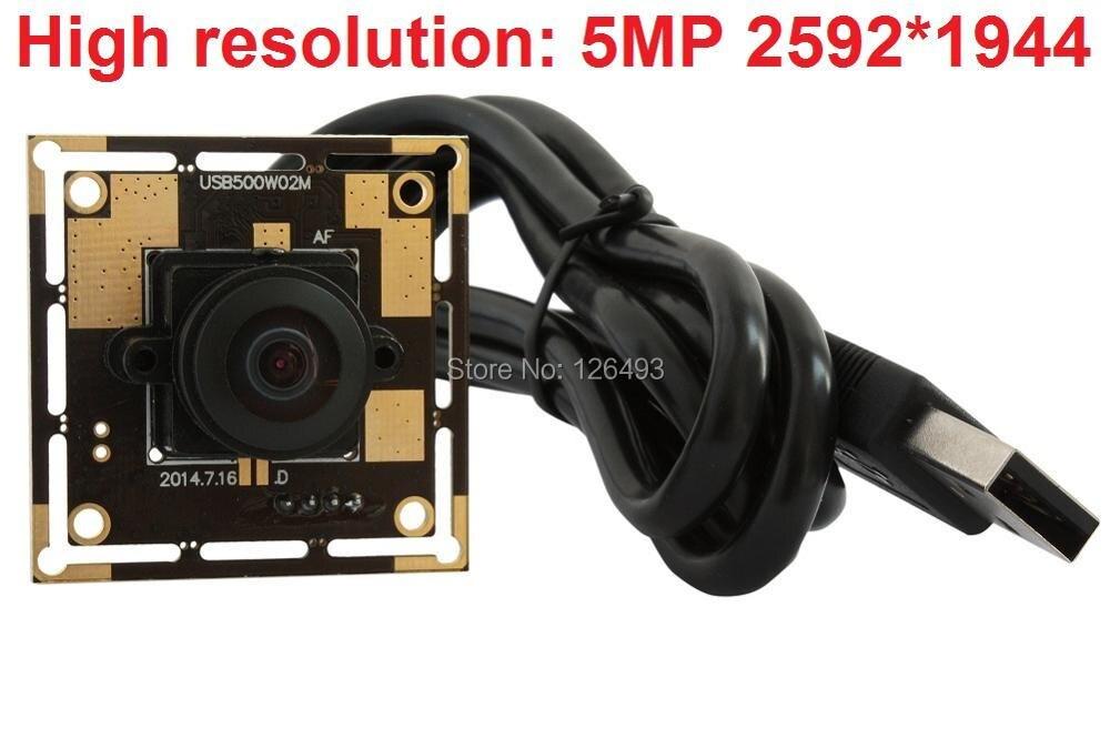 xl 1944 5 MegaPixels 2592*1944 MJPEG &YUY2 micro mini  UVC 1.1 170degree fisheye lens wide angle usb camera module