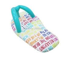Alfabeto Flip Flop Slipper Raya Gigante Piscina Flotante Anillo de Natación Inflable Paseo En El Juguete de Agua colchón de Aire Zapatillas Boia Piscina