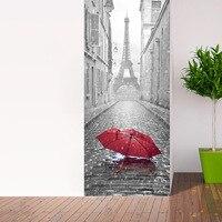 2 Pcs Set Paris Eiffel Tower Wall Stickers DIY Mural Bedroom Home Decor Poster PVC Waterproof