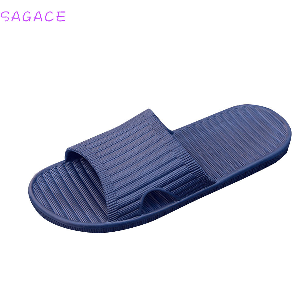 SAGACE 2018 Hot New Fashion Men Light High Quality Boys Summer Stripe Flip Flops Shoes HOT Sale Male Slipper Sandals Flip-flops hot sale women fashion summer slope with flip flops sandals loafers shoes 0320