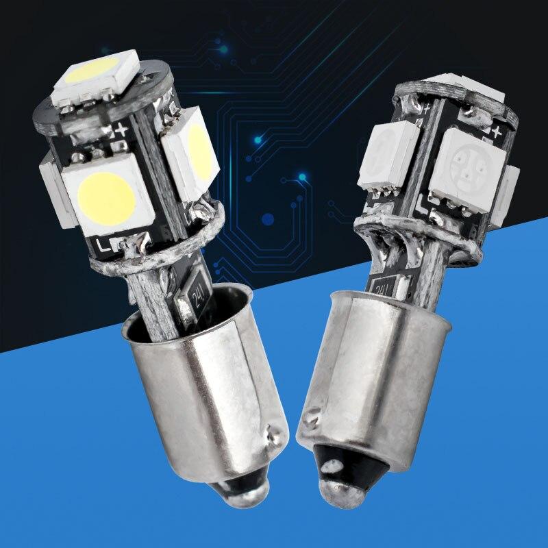 100pcs Ba9s 5 smd 5050 led Canbus Error Free Car Reading Lights T11 T4W 5SMD DOOR LIGHT BULBS NO ERROR WhiteBluered 12V 100X