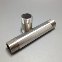 1 2 DN15 Length100mm Male 304 Stainless Steel Seamlses Threaded Pipe Fittings