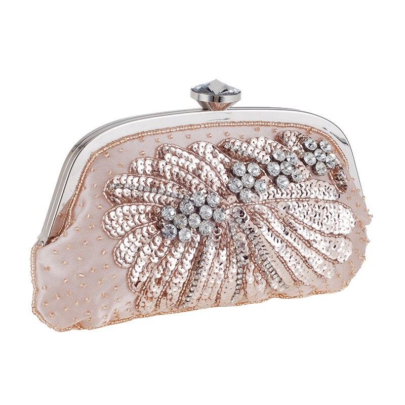 ФОТО Exclusive Custom Shell Chain Handbag Exquisite Dinner Pearl Bag Fashion All-match Evening Handbags