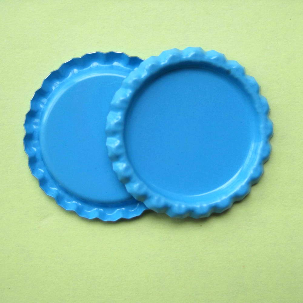 Wholesale 2000 pcs lot two side colored tinplate flatten for Wholesale bottle caps for crafts