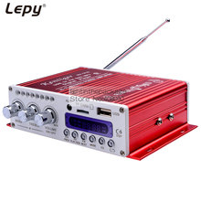 Mini Hi-Fi Stereo Audio AMP HY-V10 with Remote Control,Support FM/MP3/TF/USB/DVD for Car Motorcycle Home +charger HYV10