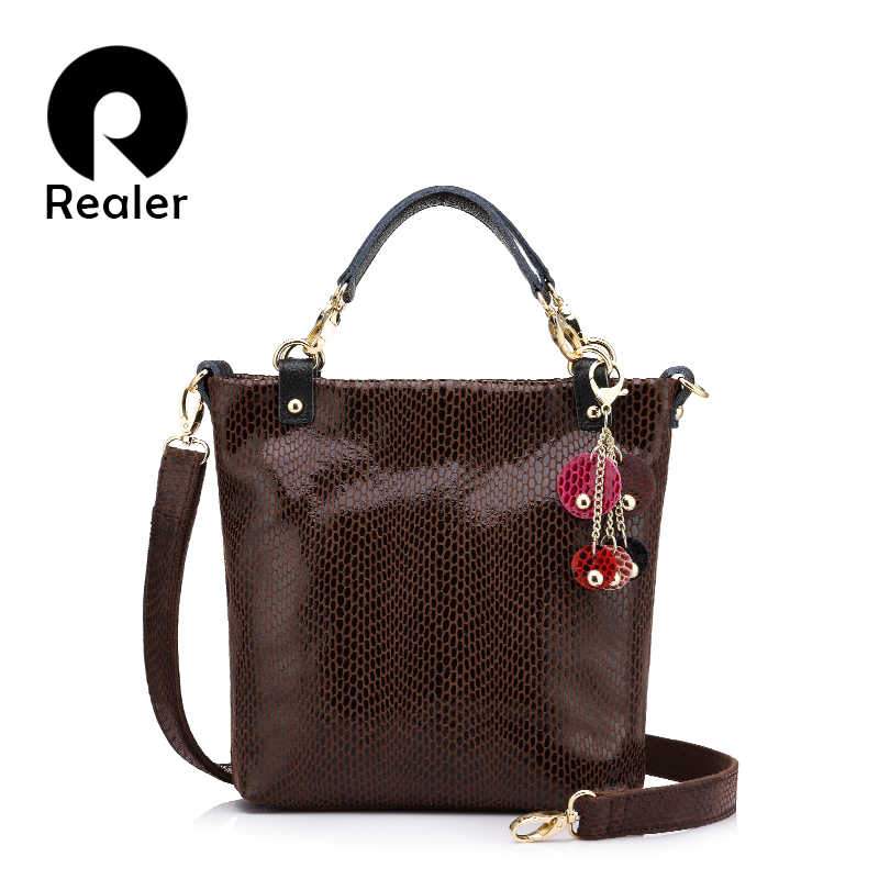 Realer handbags for women female shoulder bag crossbody bags high quality  fashion totes genuine leather messenger 0c4dffa788692