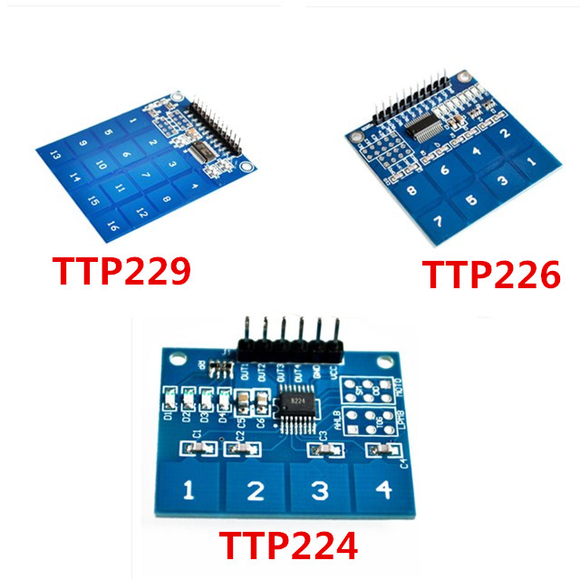 2PCS TTP229 16Channel Digital Touch Sensor Capacitive Touch Switch Button