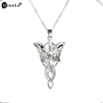 QiaoLa Classic The Lord of One Ring Arwen Evenstar Pendent Torque Movie Jewelry