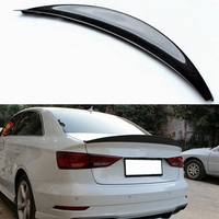 For Audi A3 4 door sedan 2013 2017 HK style high quality carbon fiber rear wing Roof rear box decorated spoiler