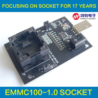 EMMC100 Socket With USB Interface For BGA100 Testing Nand Flash Size 12x18mm Pitch 1 0mm EMMC