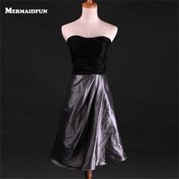 2017 Real Photos A Line Black Simple Elegant Short Evening Dress Custom Made Evening Gown