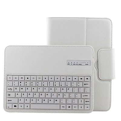 NEW White Removable Wireless Bluetooth Keyboard Leather Case Cover For Samsung Galaxy Note 10.1 2015 Edition P600 P601 P605