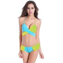 Купить с кэшбэком  Women swimsuit  female Bikinis 2019 mujer New Sexy Bikini Push Up Swimwear high waist bikini Set swimming suit for women