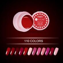 Ur сахар классический красный Гели для ногтей лак Soak Off фиолетовый серии гель Лаки 110 чистый Цвета пальто UV LED ногтей Цвет гель лак 5 мл