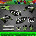 Customized Team Graphics  Backgrounds Decals 3M Custom Stickers For KAWASAKI MST02 KX250F KX450F KXF KLX 450 250 2004 2005 2015