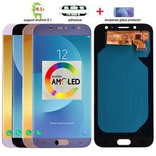 Oryginalny Super Amoled LCD do Samsunga Galaxy J7 Pro 2017 J730 J730F wyświetlacz LCD i ekran dotykowy Digitizer zgromadzenie tanie tanio 1920x1080 Pojemnościowy ekran For Samsung J7 Pro 2017 J730 3 Nowy Black Light Blue Gold Pink Test one by one 5 5