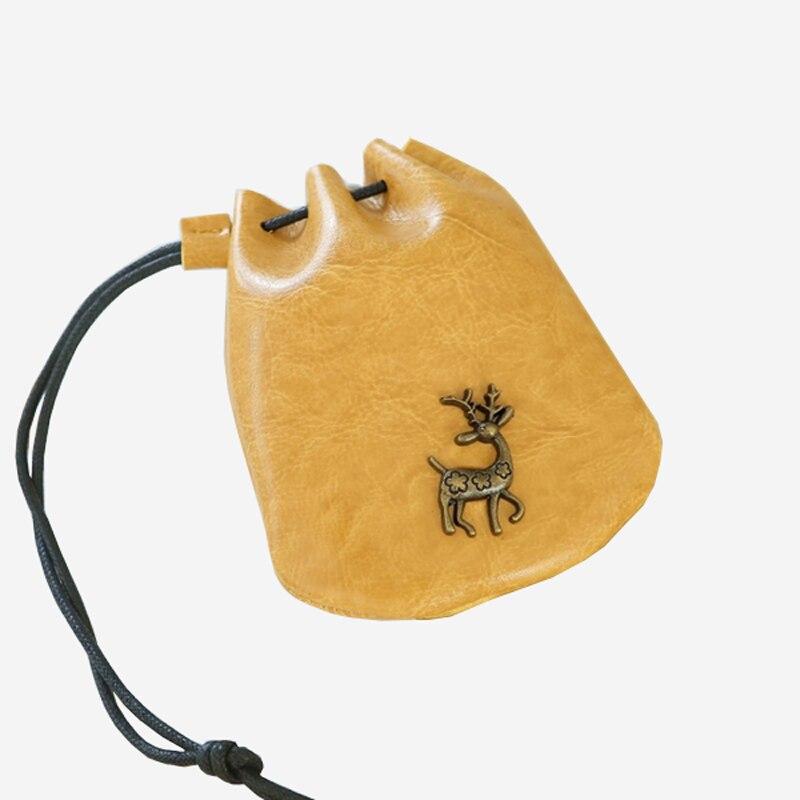 Fashion Mini Cute Deer Wallet New PU Leather Girls Purse Retro Coin Purse Clutch Wallet Female Mini DrawString Gift Bag Clutch