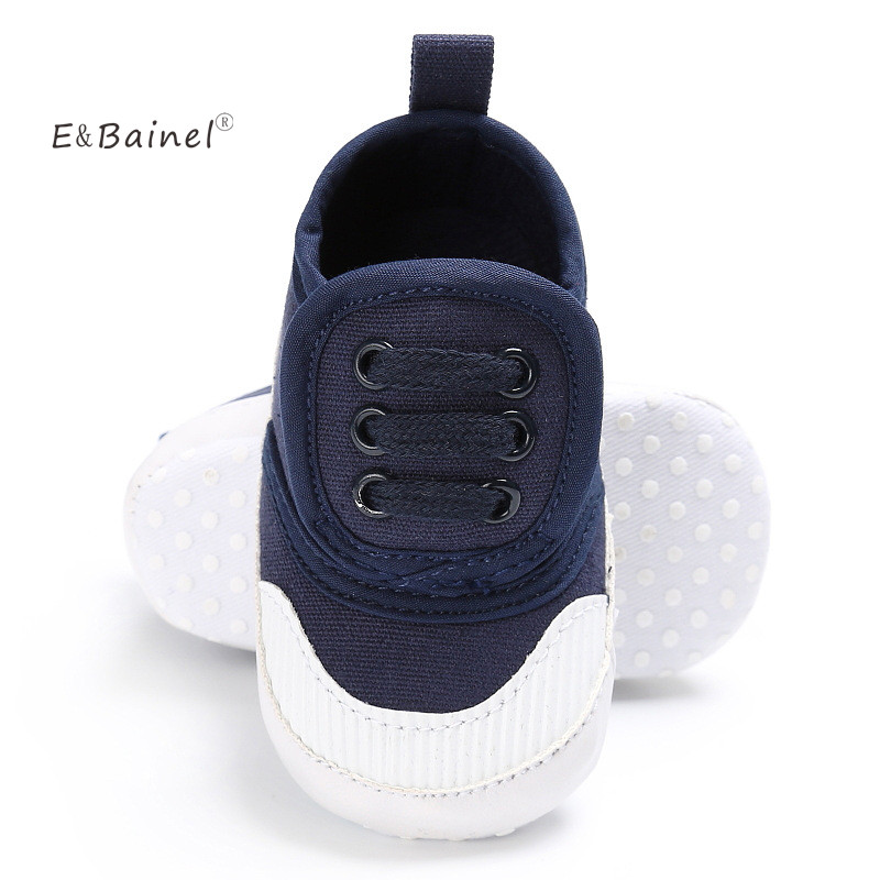 E&Bainel Canvas Baby Shoes For Kids 0-18 month Boys Girls Shoes Solid Soft Bottom Baby Sneakers Sport Shoes