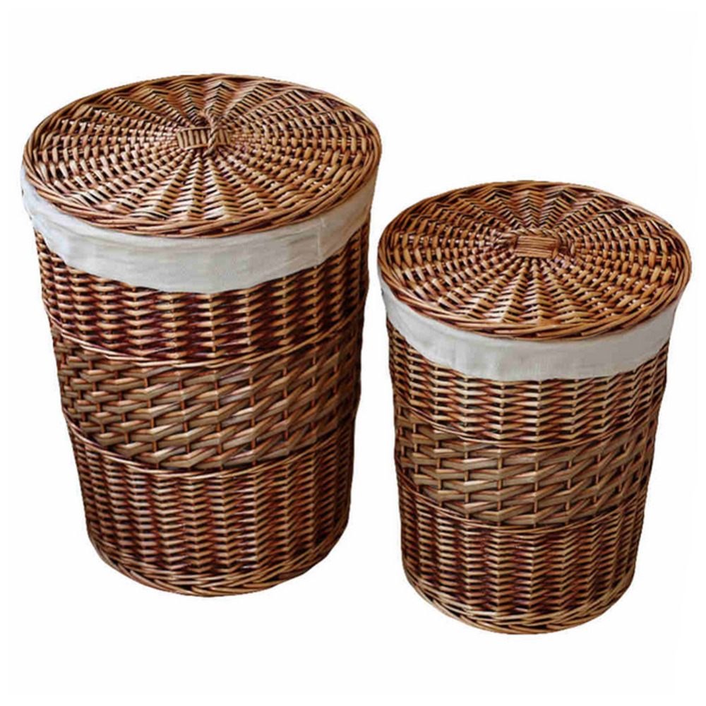 Aliexpress : Buy Home Storageanization Handmade Woven Wicker  Cattail Laundry Hamper Storage Baskets With Lid Decorative Wicker Baskets  Cesta From