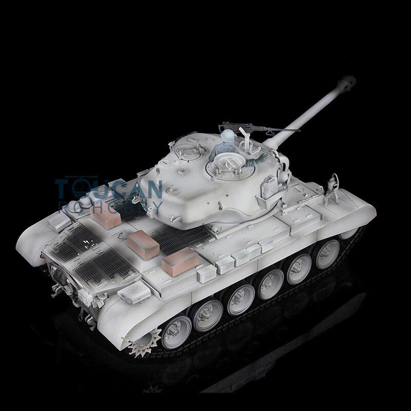 HengLong 1/16 Winter Snow Plastic Version USA M26 Pershing RTR RC Tank 3838 Model parmigiani pershing pfc528 3402500 xa3142