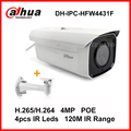 Dahua Network Camera H.265 4MP IPC-HFW4431F 120M Night Vision EXIR Bullet IP Camera with POE IP67 DH-IPC-HFW4431F with bracket