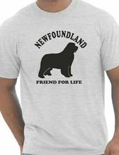 Newfoundland Dog Lover Pet Mens T-Shirt Gift Size S-XXL Cheap wholesale tees,100% Cotton For Man 2020 fashion t shirt(China)