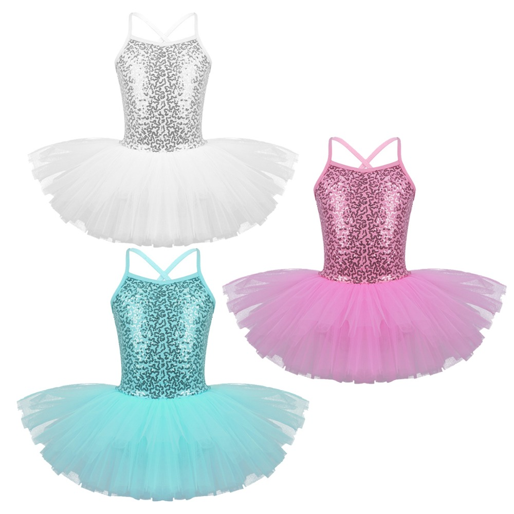 Toddler Girls Ballet Dress Kid Leotard Gymnastics Strap Tutu Skirt Fancy Costume