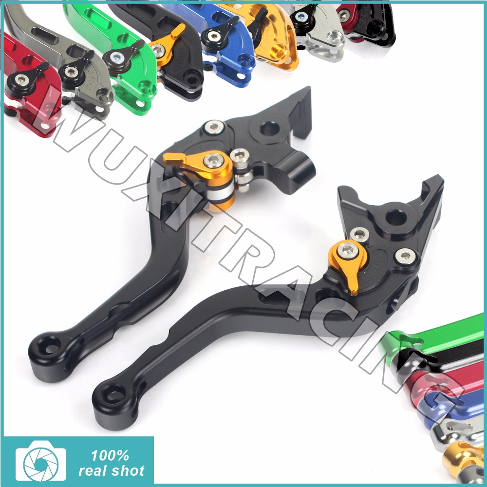 Billet Short Straight Brake Clutch Levers for SUZUKI GSX 650 1200 1400 F DL 1000 V-Strom TL 1000 R GSF 650 1200 Bandit N/S 07-15 billet extendable folding brake clutch lever for suzuki gsx 650 f dl1000 v storm sv1000s tl1000r gsf 1200 1250 bandit n s 01 06