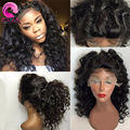 Deep Wave Lace Front Human Hair Wigs 8A Brazilian Virgin Hair Lace Front Wig Glueless Full Lace Human Hair Wigs For Black Women