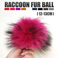 Wholesale Colorful Raccoon Fur Ball Fur Pom Poms For Women Winter Hat And Cap Beanies Fur Accessories In Apparel & Accessories