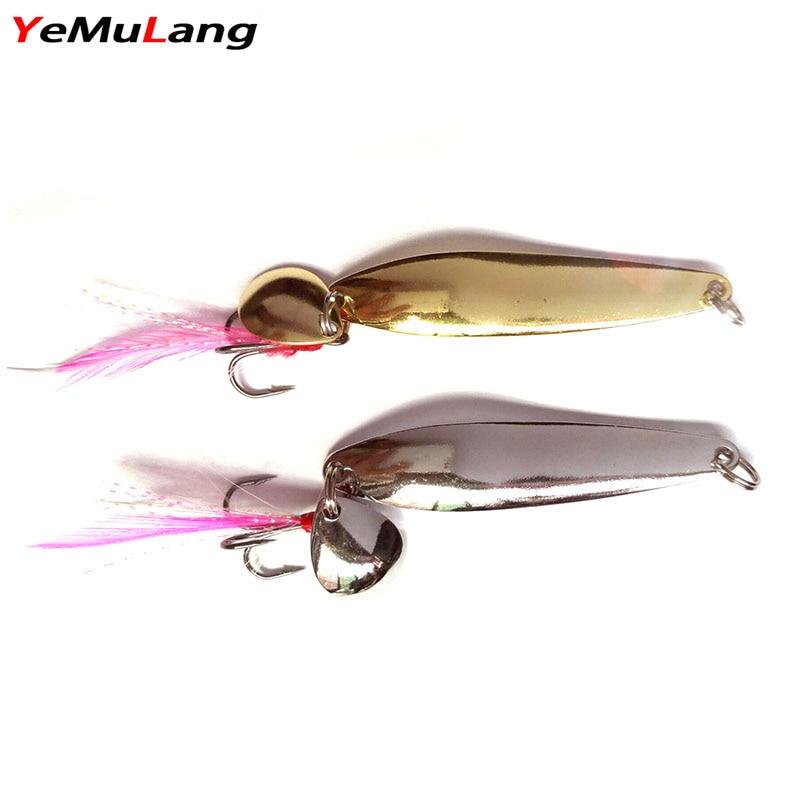 YeMuLang 1PC Metal αλιεία Lure γάντζος Spinner - Αλιεία