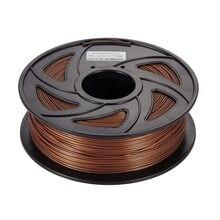 Filamento para impressora 3d 20% por cento, filamento de metal pla filamento para impressora 3d + 80% pla filamento 1.75mm bautone impressora de cobre alumínio 3d