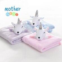 2018 Coral Fleece Blanket Cute Sheep Doll Baby Blanket Fleece Baby Fla