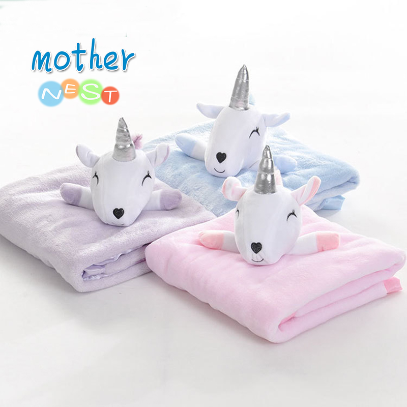 2018 Coral Fleece Blanket Cute Sheep Doll Baby Blanket Fleece Baby Flannel Receiving Blanket Stroller Wrap Bedding Baby Swaddles