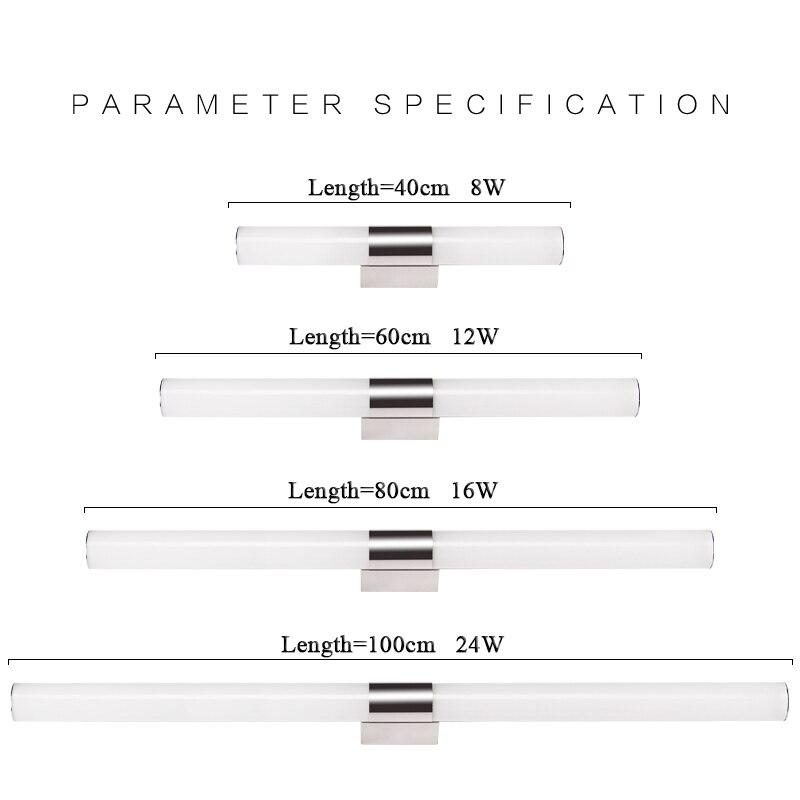 Bathroom Led Light Fixtures Over Mirror aliexpress : buy modern 100cm long 24w white linear acrylic