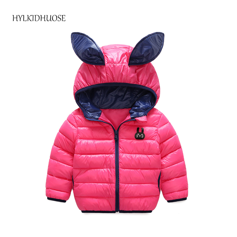 HYLKIDHUOSE 2017 Baby Girls Winter Coats Cartoon Rabbit Children Warm Hooded Outerwear Jacket Infant Kids Outdoor Cotton Parkas baby boys winter coats jacket children hooded outerwear kids warm cotton padded clothes infant parkas