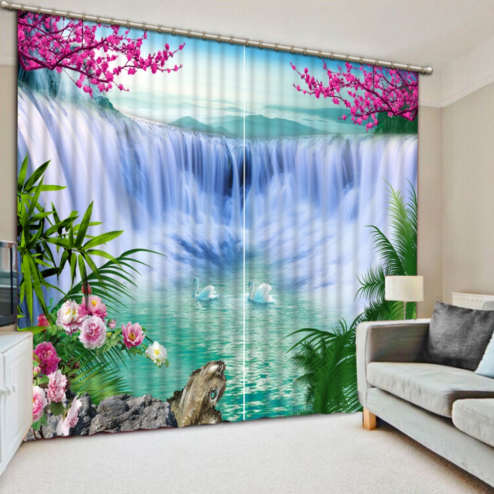 Custom any size 3D Curtains For Living room Beautiful ... on Beautiful Bedroom Curtains  id=44875
